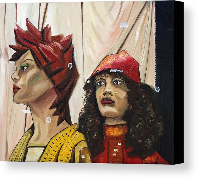 People Canvas Print featuring the painting Nina And Star by Patricia Arroyo