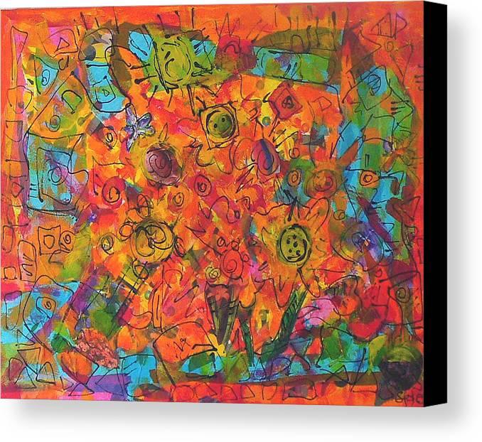 Orange Canvas Print featuring the painting Orange Orange by Joyce Goldin
