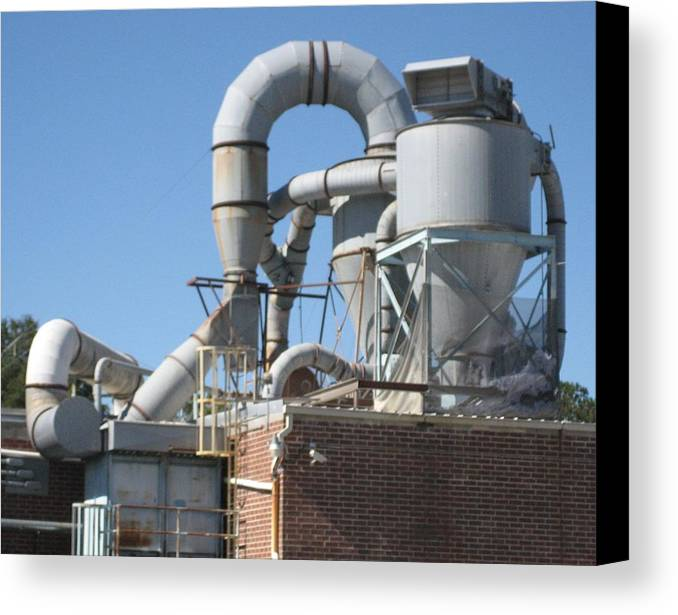 Digital Photograph Canvas Print featuring the photograph Paper Recycling Plant 1 by Stephen Hawks