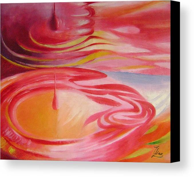 Abstract Canvas Print featuring the painting Ripples No.1 by Lian Zhen