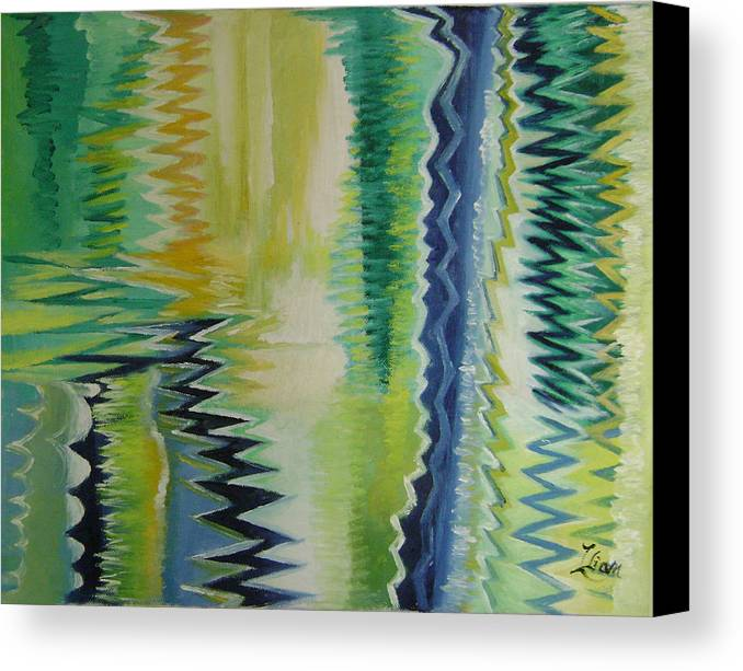 Abstract Canvas Print featuring the painting Ripples No.2 by Lian Zhen