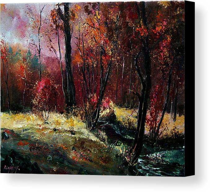 River Canvas Print featuring the painting River Ywoigne by Pol Ledent