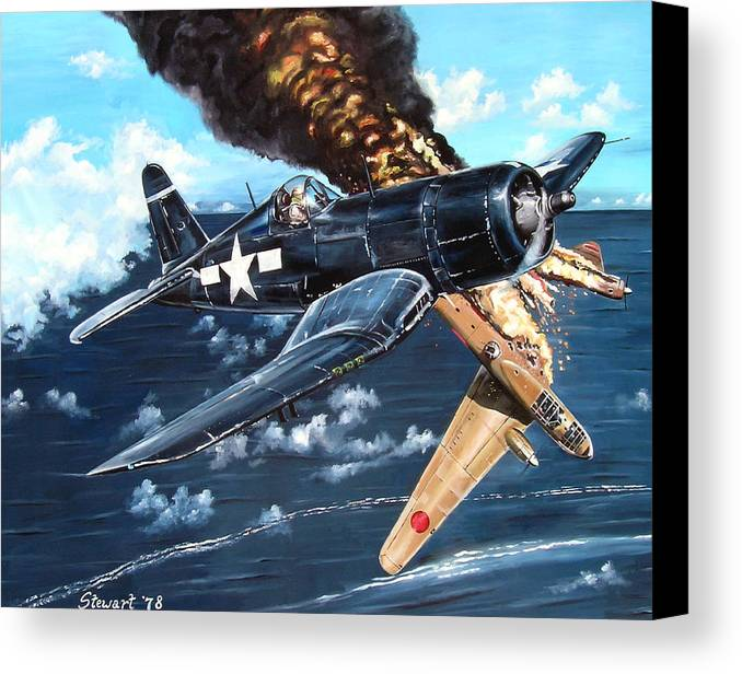 Military Canvas Print featuring the painting Scratch One Betty by Marc Stewart
