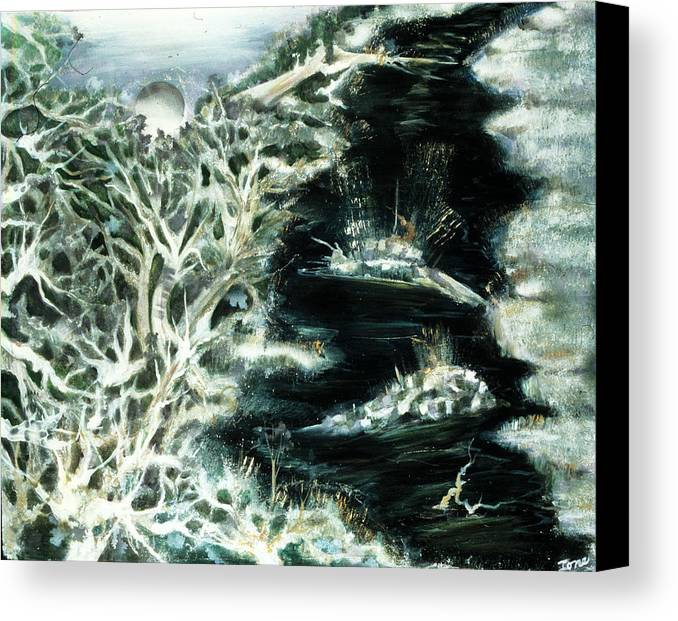 Spring Thaw Canvas Print featuring the painting Spring Thaw by Ione Citrin