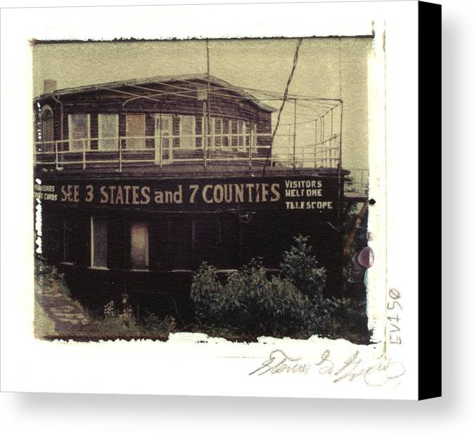 Pittsburgh Canvas Print featuring the photograph S.s. Grand View Hotel...ship Of The Alleghenies Prow by Steven Godfrey