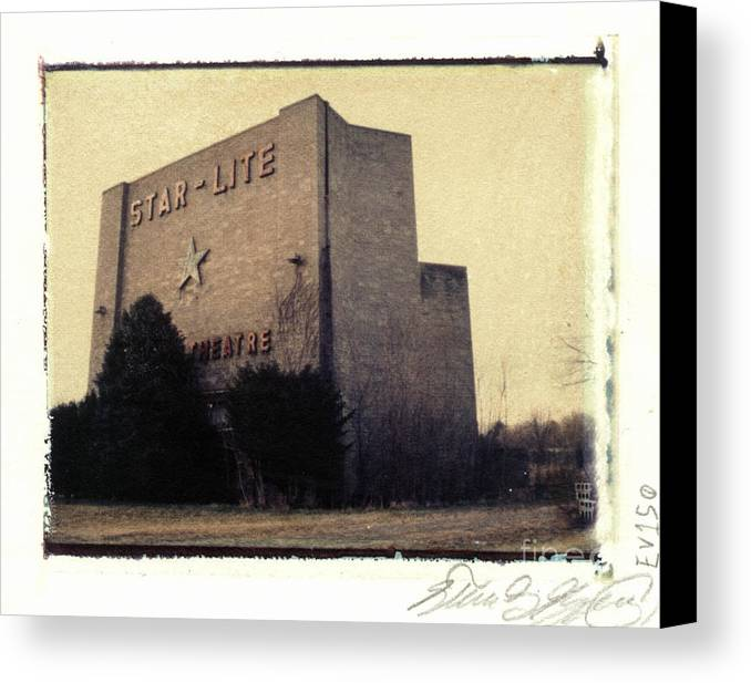 Polaroid Canvas Print featuring the photograph Star-lite Drive-in by Steven Godfrey