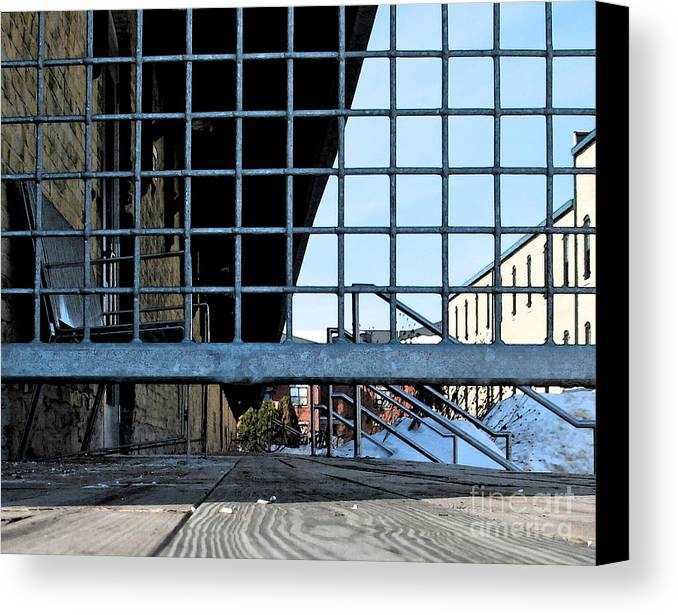 Perspective Canvas Print featuring the photograph Streetscape 3 Housing by Gary Everson