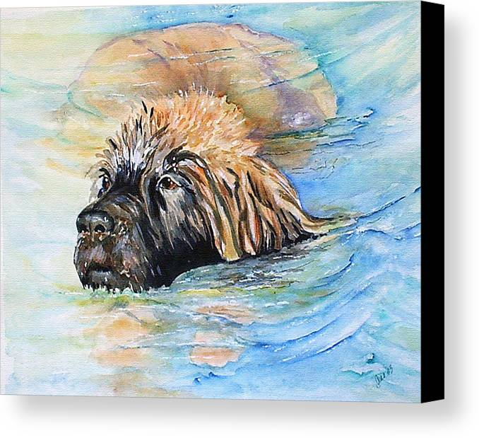 Canine Canvas Print featuring the painting Summer Daze by Gina Hall