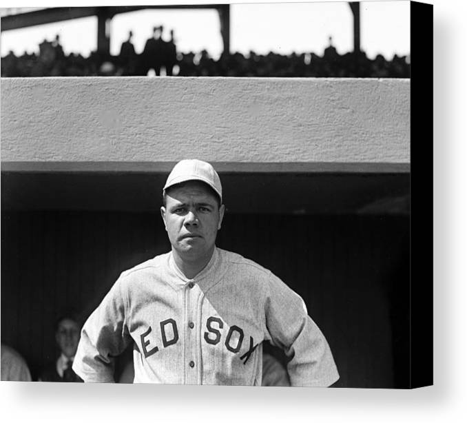 babe Ruth Canvas Print featuring the photograph The Babe - Red Sox by International Images