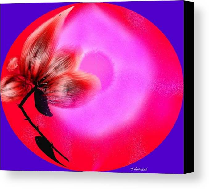 Love.world Of Love.flower Of Love.sun Of Love.red.pink.colors.broken Flower Of Love Canvas Print featuring the digital art The Closed World Of The Love by Dr Loifer Vladimir