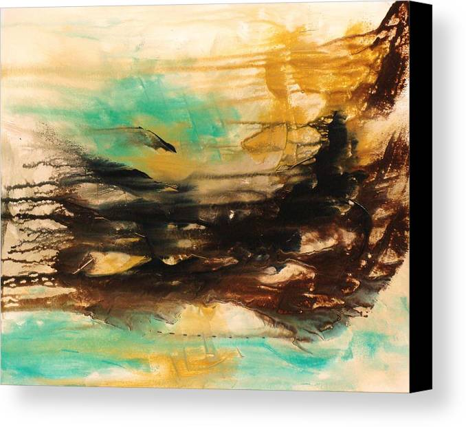 Abstract Canvas Print featuring the painting The East Mist by Ofelia Uz