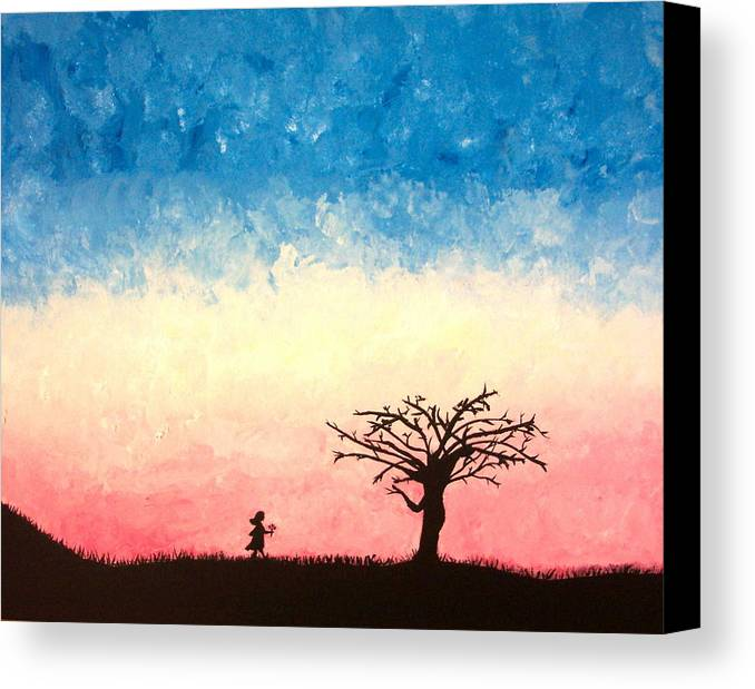 Child Canvas Print featuring the painting The Tree by Jennifer Hernandez
