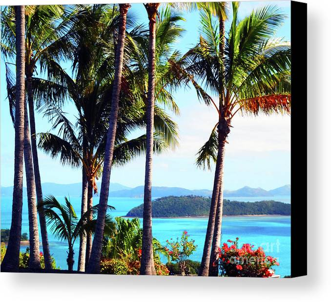 Healing Art Canvas Print featuring the photograph Tropical Paradise by Eluv