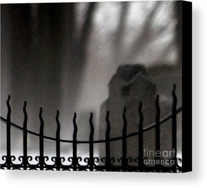 Cemetery Canvas Print featuring the photograph Twilight Beyond Grace by Linda Shafer