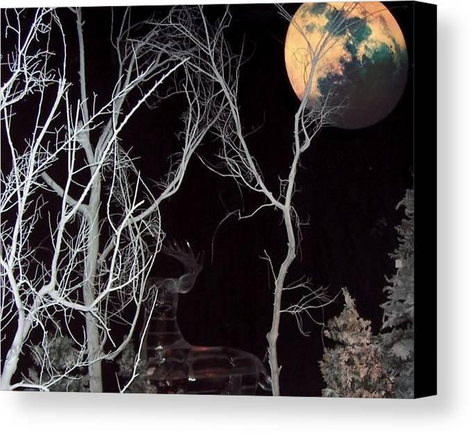 Tree Canvas Print featuring the photograph Twilight by Vicki Lynn Sodora