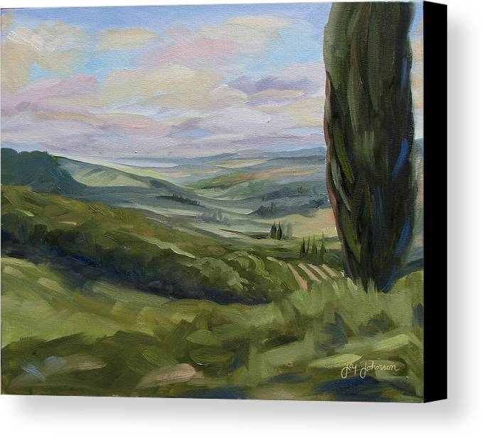 Landscape Canvas Print featuring the painting View From Sienna by Jay Johnson