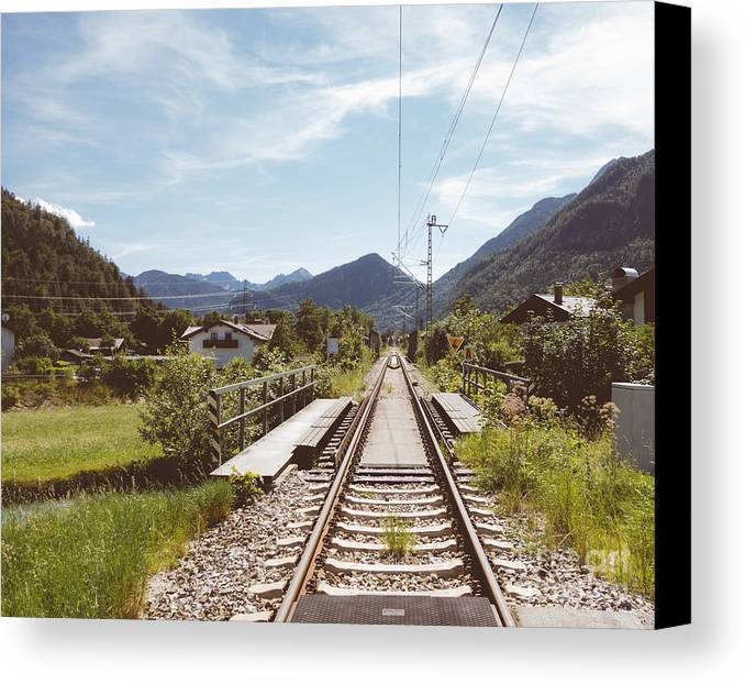 Railway Tracks Canvas Print featuring the photograph Vintage Rails by Rod Jellison