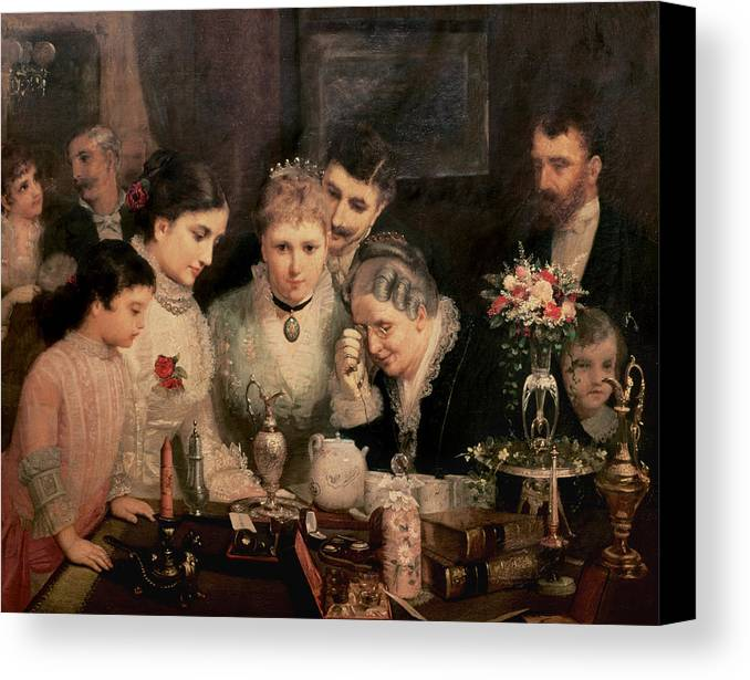 Wedding Presents Canvas Print featuring the painting Wedding Presents by JW Champney