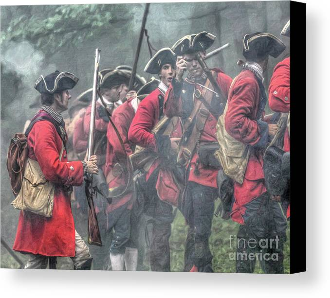 Battle Canvas Print featuring the digital art Young Lions French And Indian War by Randy Steele