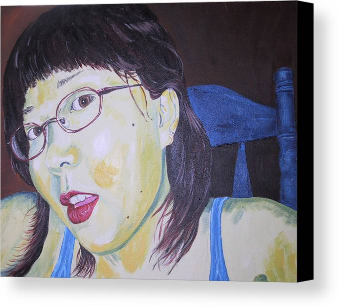 Kevin Callahan Canvas Print featuring the painting Yuka by Kevin Callahan
