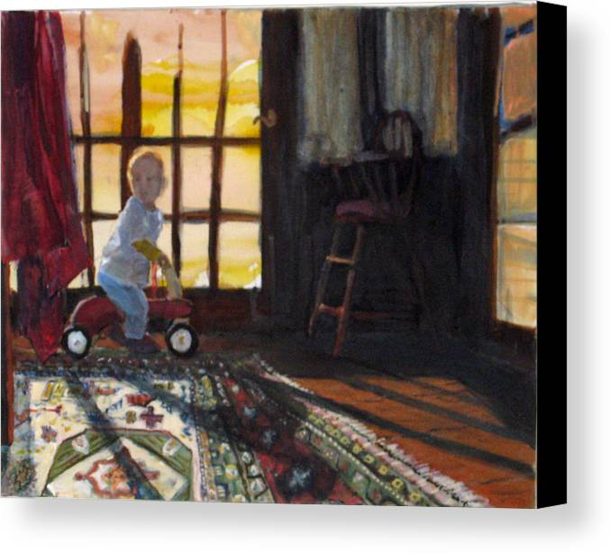 Oriental Rug Canvas Print featuring the painting Zeb by Alicia Kroll