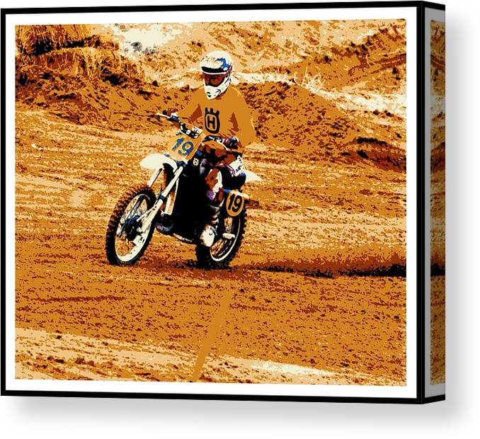 2013 Vintage Motocross Canvas Print featuring the photograph 055 Poster by Brian McCullough