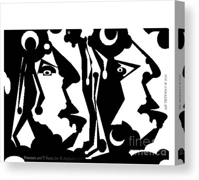 Artphabet Is A Creation That Shows How My Arts Speaks To Me Through Imagination. Means The Language Of The Arts. Canvas Print featuring the digital art Artphabet by Pwavarts T-Rasta