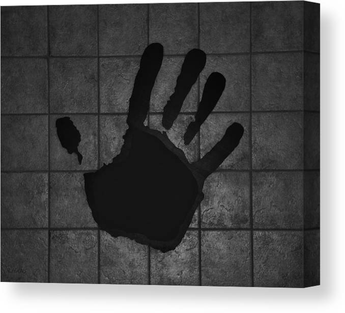 Hand Canvas Print featuring the photograph Black Hand by Rob Hans