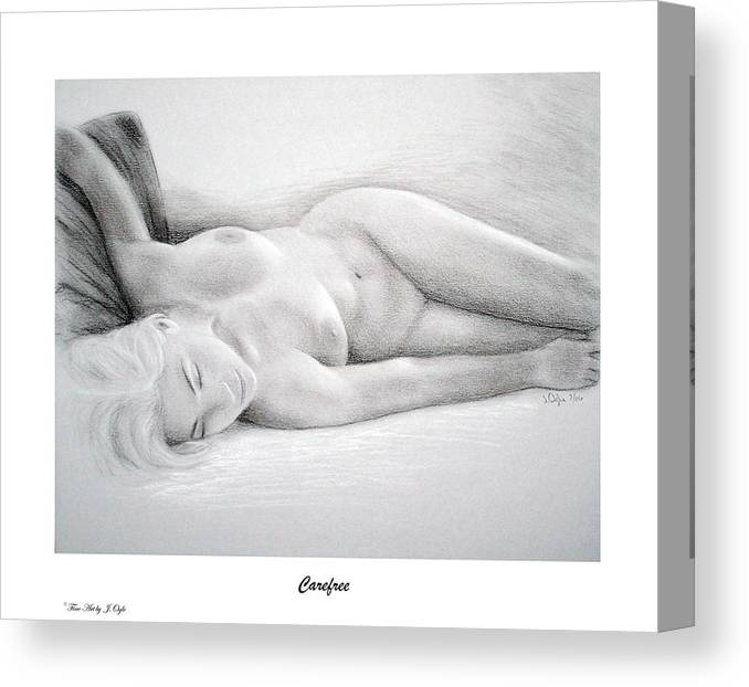 Joe Ogle Canvas Print featuring the painting Care Free-print Only by Joseph Ogle