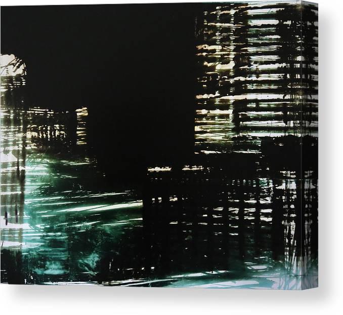 Reenatype Canvas Print featuring the photograph City Negative by Reena Nemirovsky