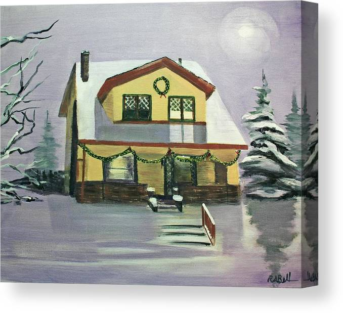House Canvas Print featuring the painting Dan's House by Randy Bell