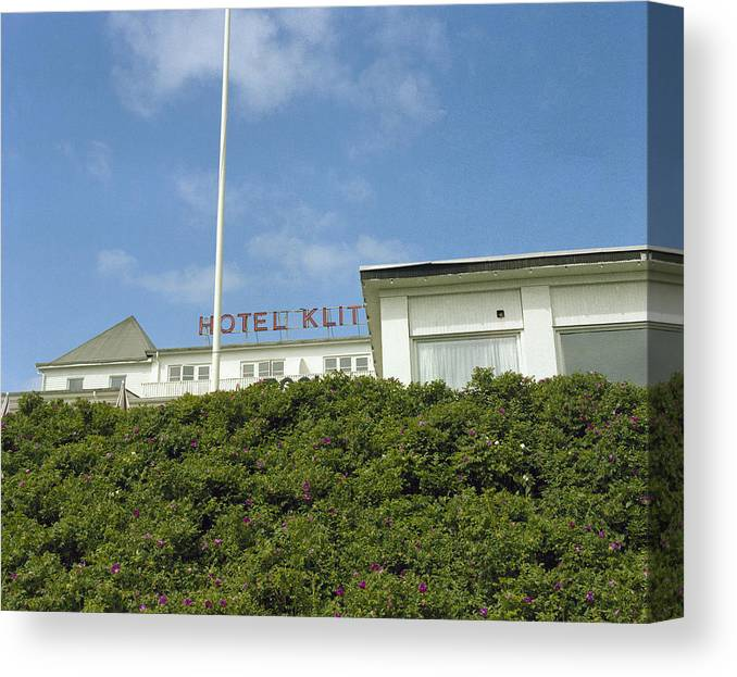 Denmark Canvas Print featuring the photograph Dunes Hotel by Jan W Faul