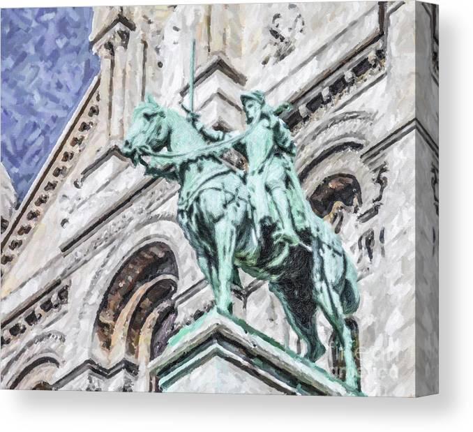 Sainte Canvas Print featuring the digital art Jeanne D'arc by Liz Leyden