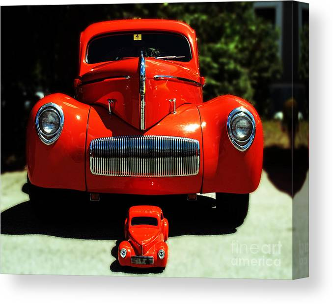Car Canvas Print featuring the photograph Like Father Like Son by Kevin Fortier