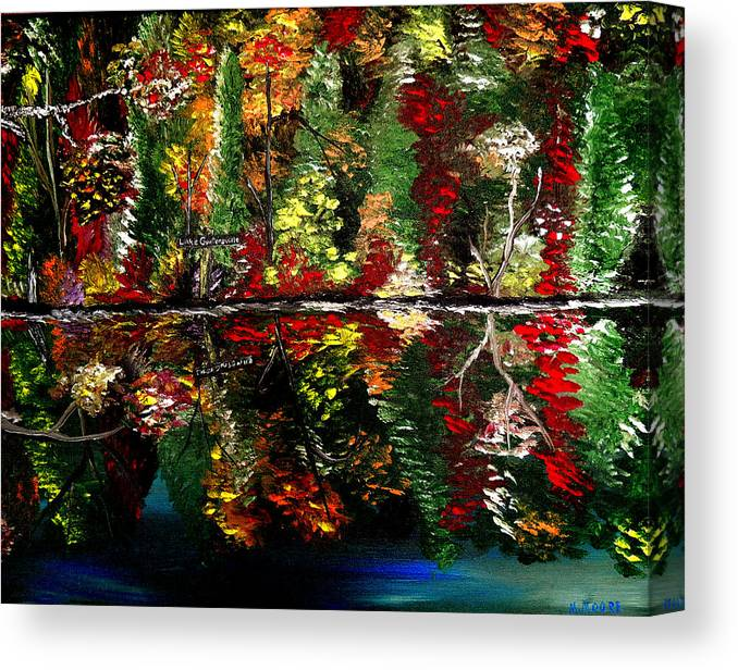 Fall Canvas Print featuring the painting Reflections Of Fall by Mark Moore