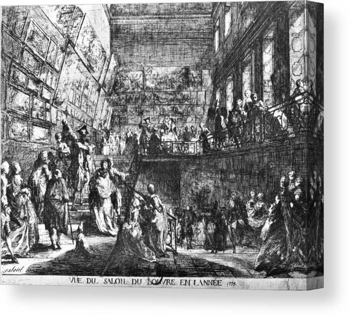 1753 Canvas Print featuring the painting Saint-aubin Louvre, 1753 by Granger