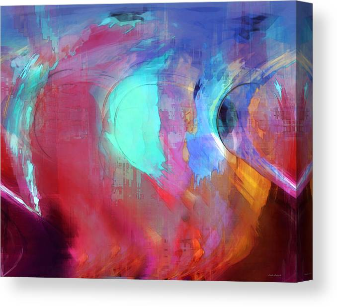 Abstract Canvas Print featuring the digital art The Afterglow by Linda Sannuti
