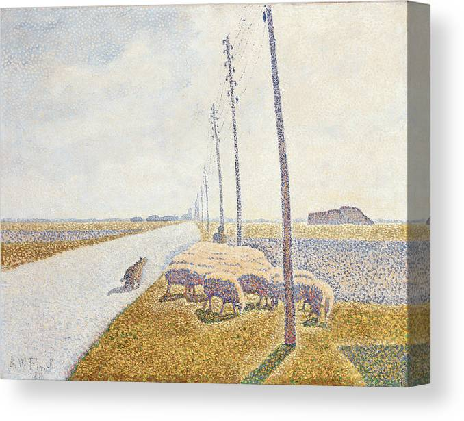 Path Canvas Print featuring the painting The Road To Nieuport by Willy Finch