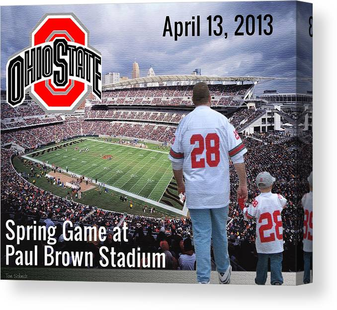 Ohio State Canvas Print featuring the painting Tradition by Tom Schmidt