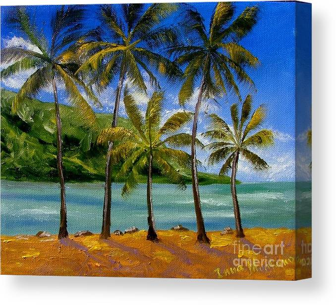 Summer Canvas Print featuring the painting Tropical Paradize by Inna Montano