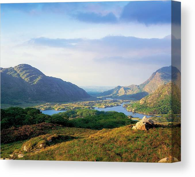Beauty In Nature Canvas Print featuring the photograph Ladies View, Killarney, Co Kerry by The Irish Image Collection
