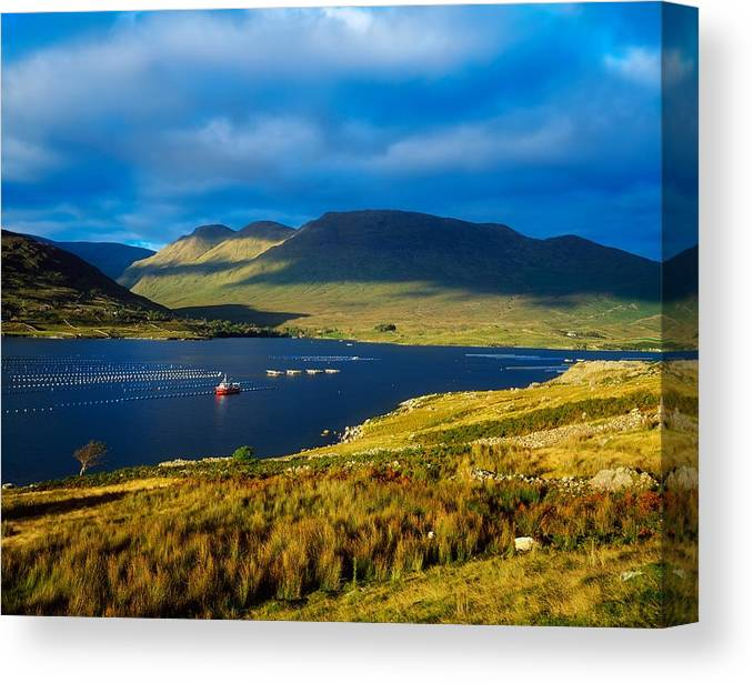 Beauty In Nature Canvas Print featuring the photograph Killary Harbour, Co Galway, Ireland by The Irish Image Collection