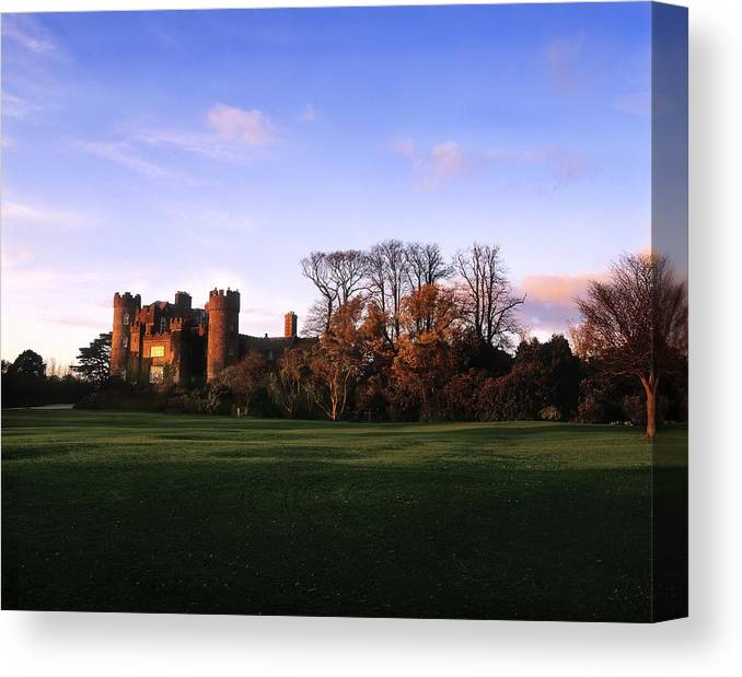 Back Lit Canvas Print featuring the photograph Malahide Castle, Co Fingal, Ireland by The Irish Image Collection