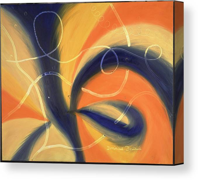 Abstract Canvas Print featuring the painting L by Dominique Boutaud