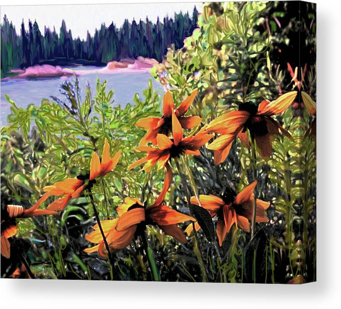 Manitoulin Canvas Print featuring the digital art Manitoulin Shores by Ian MacDonald