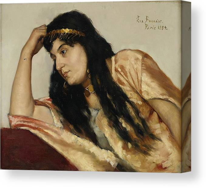 Eva Bonnier 1857-1909 Turkish Woman (odalisk) Canvas Print featuring the painting Turkish Woman by MotionAge Designs