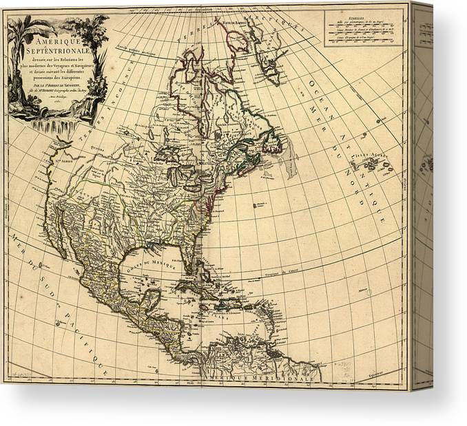 Antique Map Of North America.Antique Maps Old Cartographic Maps Antique French Map Of