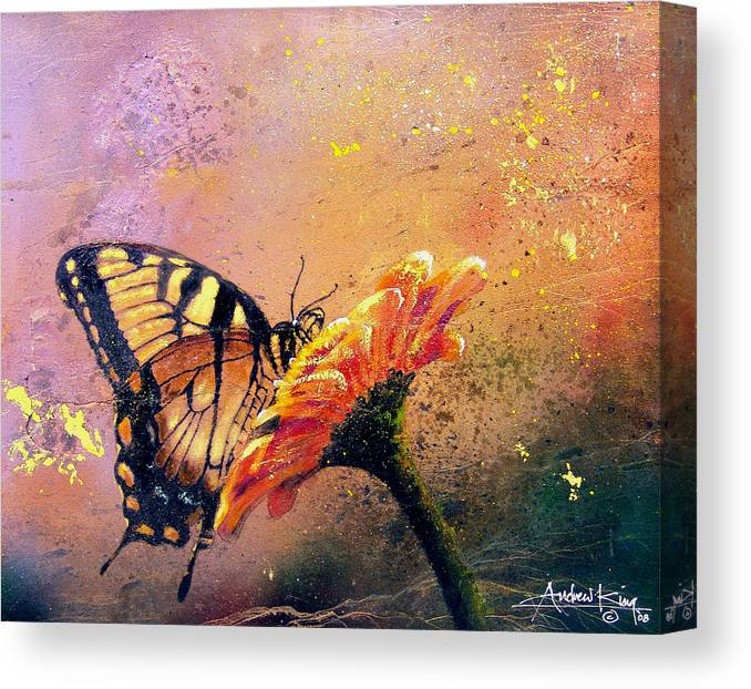 e2b872e2cdb Nature Canvas Print featuring the painting Butterfly by Andrew King