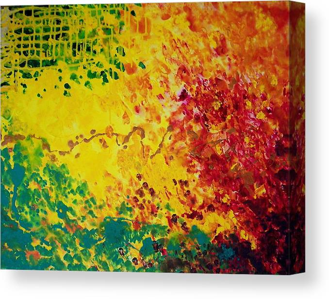 Abstract Canvas Print featuring the painting Cassandra by Jess Thorsen