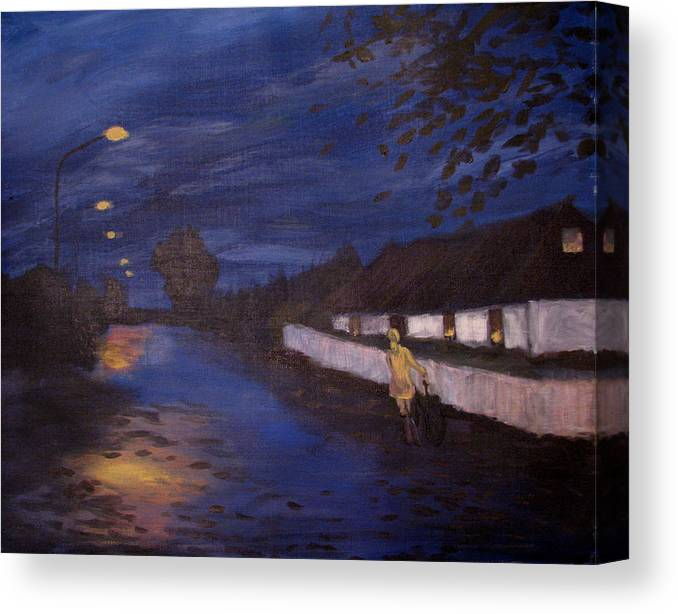 Art Nomad Canvas Print featuring the painting Going Home by Art Nomad Sandra Hansen